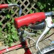 Schwinn Teardrop Script Grips in red